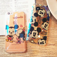 Lovely Transparent Cute Mouse Minnie Kiss Glitter Soft case for iPhone 6S 6Plus