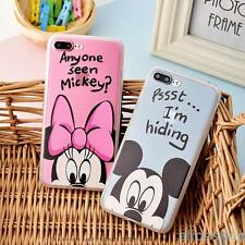 Cartoon Cute Minnie Mikcey Mouse Couple Case for iPhone 7 7 Plus 6 6S Plus 5S SE