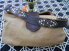 Wonderful Pebbled Leather Camel Color Tylie Malibu Shoulder Purse