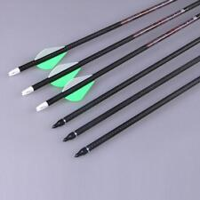 New Carbon Arrows SP350 Archery Hunting For Compound Recurve Bow 31'' Screw Tips