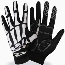 Mens Cycling Bike Gloves Motorcycle Skull Bone Skeleton Goth Full Finger Gloves