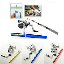 Retail Packing Mini Portable Pocket Aluminum Alloy Fishing Pen Rod Pole Reel