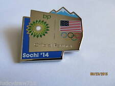 Team USA BP Official Partner Sochi 2014 Olympic Badge Lapel Pin