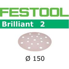 50 FESTOOL sanding discs Brilliant 2 Ø150mm 16 Hole P40-P80 496585-496587