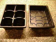 3 TO 50  HALF SIZE SEED TRAYS AND and 6  CELL HALF SIZE SEED TRAY INSERTS