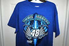 JIMMIE JOHNSON #48 OFFICIALLY LICENSED NASCAR T-SHIRT BLUE SIZES MED & LARGE NWT