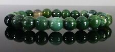 Green Moss Agate Bracelet Therapeutic Gemstone Beaded