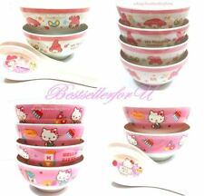 Authentic Sanrio Cereal Rice Soup Salad Melamine Bowls Tableware Pink Set of 4