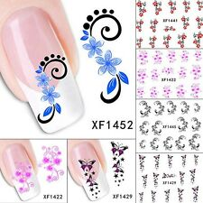 Newly Fingernail Stickers Fashion Water Transfer Tips Nail Art Decals 2 Sheets