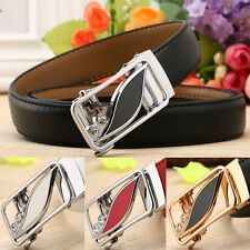 6 styles Womens real leather belt Fashion 2.4cm wide waist belt Automatic Buckle