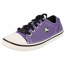 GIRLS CROCS SHOES ULTRAVIOLET / BLACK TEXTILE STYLE - HOVER SNEAK