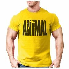 Animal print tracksuit t shirt muscle shirt Trends in 2016 fitness cotton brand
