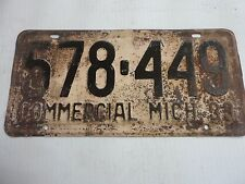 1933 ORIGINAL MICHIGAN STATE LICENSE PLATE 578-449 VINTAGE METAL FORD OLDS