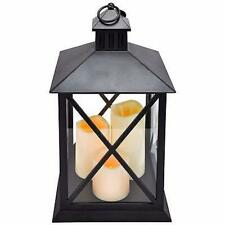 Flickering Candles Battery Operated Lantern Lamp Light Home Garden Decoration
