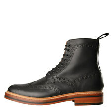 New Mens Grenson  Fred Boots - Black 100% Leather
