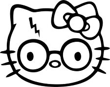 Hello Kitty - Harry Potter - Vinyl Car Window and Laptop Decal Sticker
