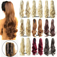21.6'' Long Big Blonde Wave Claw Clip In Hair Ponytails Hair Extension