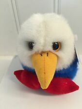 ~PATRIOT the Eagle Puffkins ~plush toy #6693 by Swibco bird red white & blue