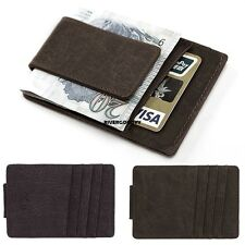 New Mens PU Leather Money Clip Slim Wallets ID Credit Card Holder Bifold VGY