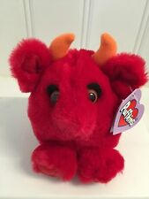 Puffkins ~RED the DEVIL #6660 plush by Swibco  HALLOWEEN LE