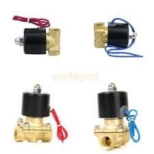 """Industiral 1/2""""or 1/4"""" Electric Solenoid Valve Water Air Fuels Gas Normal Closed"""