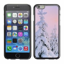 Hard Phone Case Cover Skin For Apple iPhone Snow Covered Fir Trees At Dawn