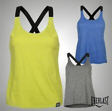 Ladies Branded Everlast Workout Jacquard Tank Top Crew Training Vest Size 8-16