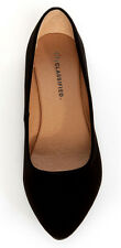 City Classified Women Casual Flat Shoes Pointy Toe Black Suede NB Formal SADLER