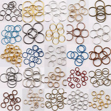Open Split Jump Rings DIY Jewelry Making Findings Connector Accessories 4mm-14mm