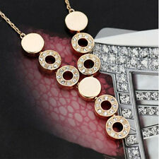 Women Crystal 18K Gold Plated Pendent Necklace Earrings Ring Wedding Jewelry Set