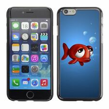 Hard Phone Case Cover Skin For Apple iPhone Funny 3D Animals - Fish