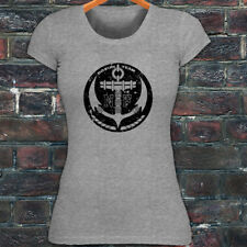 NAVY ANCHOR U.S. ARMED SPECIAL FORCES MILITARY Womens Gray T-Shirt