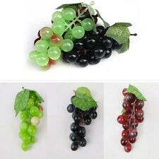 Lifelike Plastic Faux Fruit 22 Grapes Fake Display Garden Home Yard Decoration