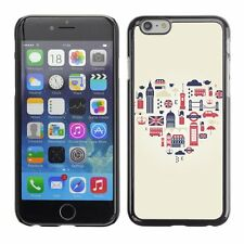Hard Phone Case Cover Skin For Apple iPhone London Heart Flat Icons