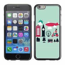 Hard Phone Case Cover Skin For Apple iPhone London Vector Graphics Set