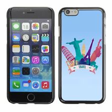 Hard Phone Case Cover Skin For Apple iPhone Travel Concept Vector Illustration