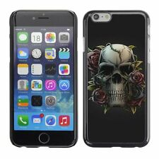 Hard Phone Case Cover Skin For Apple iPhone Skull and Rose