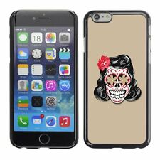 Hard Phone Case Cover Skin For Apple iPhone Vector Floral Skull Tattoo