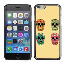 Hard Phone Case Cover Skin For Apple iPhone Vector Skull Floral Set