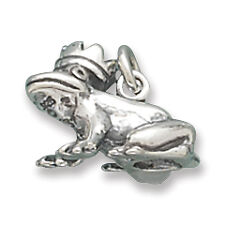 Sterling Silver Frog Prince Charm Measures 10x17mm