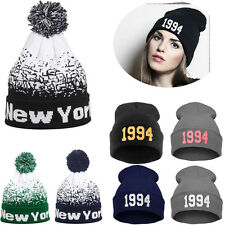 Men Women Baggy Warm Winter Wool Knit Ski Beanie Skull Slouchy Caps Hat Unisex