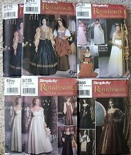 Choice of NIP Simplicity Renaissance Gowns Costume Collection Pattern