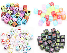 50/100pcs Mixed Alphabet Letter Cube Loose Spacer Beads Acrylic Accessories