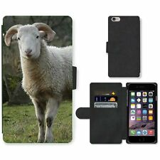 Phone Card Slot PU Leather Wallet Case For Apple iPhone Sheep