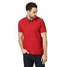 Maine New England Mens Big And Tall Red Textured Polo Shirt From Debenhams