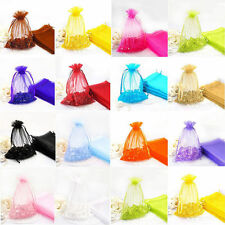 14 Colours & 2 Sizes! Premium Organza Wedding Favour Gift Bags Jewellery Pouches
