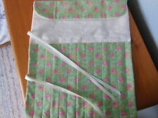 HAND CRAFTED KNITTING NEEDLE ROLL HOLDER ROOM FOR 12 PAIRS OF NEEDLES FLORAL