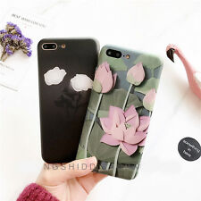 Cute Retro Vintage Chinese Lutos Flower Soft Case Cover for iPhone 7 7 Plus 6 6S