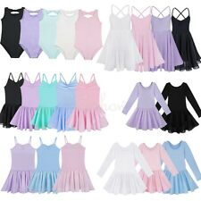 Toddler Girls Ballet Dance Tutu Dress Kids Gymnastics Leotard Unitard Costume