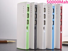 LOT 50000mAh 3 USB Backup External Battery Power Bank Pack Charger for Phones @K